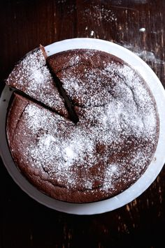 Recipe for Nigella Lawson& Flourless Chocolate Orange Cake made with whole oranges, almonds, and cocoa. Orange And Almond Cake, Chocolate Orange, Chocolate Hazelnut, Flourless Cake, Flourless Chocolate, Gluten Free Chocolate, Easy Chocolate Desserts, Homemade Chocolate, Flowerless Chocolate Cake