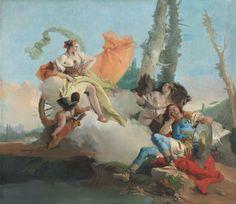 "Giovani Batista Tiepolo ~ ""Armida Encounters the Sleeping Rinaldo"", 1742-45, The Art Institute of Chicago"