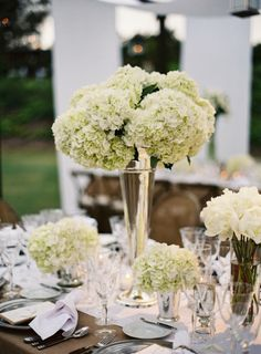 Magic happens when you mix classic whites, burlap and pewter.