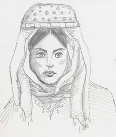 Aug 18th: Headscarf sketch - by QueenHare for the Design Every Day Project