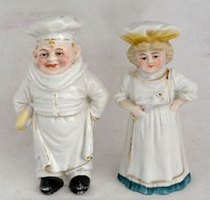 VINTAGE CHEF And HOUSEKEEPER Salt And Pepper Shakers - Germany