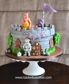 Knight / castle cake - perfect for little boy's birthdays