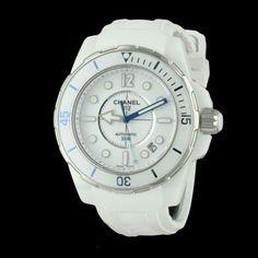 CHANEL - J12 Marine Blanche, cresus montres de luxe d'occasion, http://www.cresus.fr/montres/montre-occasion-chanel-j12_marine_blanche,r2,p22671.html