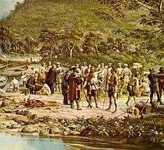 Valentim Ramahlo's family belonged to a great clan of mamelucos related to João Ramahlo, the castaway who had settled the high plateau long before the Jesuits Nobrega and Anchieta arrived to establish São Paulo de Piratininga. -- from Brazil, a Novel by Errol Lincoln Uys