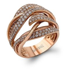 18K Rose Gold Fashion Fable Right Hand Ring - LP2231-R - Simon G.