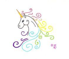 Unicorn Tattoo by RuneElf