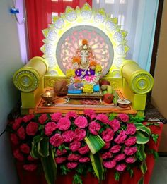 33 Best Creative Decoration Ideas For Ganesh Chaturthi Images