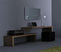wooden lacquered suspended desks office furniture