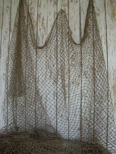 Old Used Fishing Net  10 ft x 10 ft  Vintage Fish by NauticalPlace, $24.99