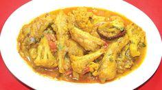 Lote Mach Phoolkopir Delicious Spicy Recipe - ফুলকপি লোটে মাছের জমজমাট র. Bengali Fish Recipes, Spicy Recipes, Thai Red Curry, Chicken, Meat, Ethnic Recipes, Wallpaper, Food, Wallpaper Desktop