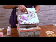 (11) Caixa Scrapdecor - YouTube Jewelry Box Makeover, Country Videos, Diy Cardboard, Decorative Boxes, Shabby Chic, Baby Shower, Diy Crafts, Projects, Painting