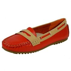 Red + Tan Loafers - these look comfy $20.00