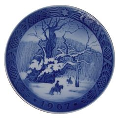 89% Off was $89.00, now is $9.99! ROYAL COPENHAGEN 1967 Porcelin Christmas Plate - The Royal Oak + Free Shipping