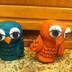 Owls out of champaigne corks