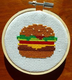 Hamburger cross stitch