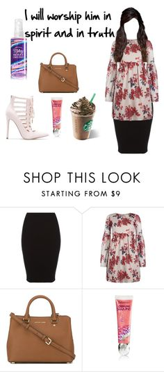 """""""worship him"""" by skirtsandshirts ❤ liked on Polyvore featuring Topshop and MICHAEL Michael Kors"""