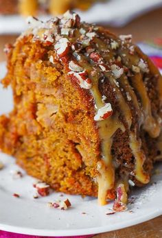 Thanksgiving: Apple Pumpkin Bundt Cake with Cinnamon and Vanilla. Quick Apple Dessert, Apple Dessert Recipes, Apple Recipes, Crockpot Recipes, Holiday Recipes, Pumpkin Recipes, Cake Recipes, Breakfast Recipes, Pumpkin Bundt Cake