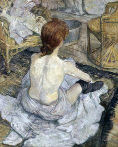 Henri de Toulouse-Lautrec - Rousse also called Toilet