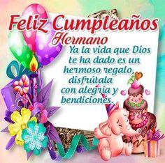 Happy Birthday Wishes Cake, Happy Birthday Brother, Happy Birthday Celebration, Feliz Compleanos, Good Morning In Spanish, Birthday Qoutes, Cute Love Gif, Lily, Christmas Ornaments
