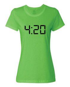 Women's 420 Digital Clock T-Shirt - http://www.amazon.com/gp/product/B00JTI03A6/ref=as_li_ss_tl?ie=UTF8&camp=1789&creative=390957&creativeASIN=B00JTI03A6&linkCode=as2&tag=420life-20