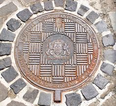 Manhole cover in Miltenburg, Germany
