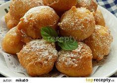 Rychlé nekynuté koblížky recept - TopRecepty.cz Fritters, Pretzel Bites, Donuts, French Toast, Food And Drink, Bread, Baking, Breakfast, Sweet