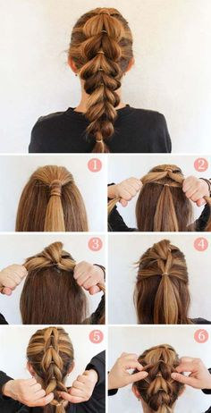 These 25 braided hairstyles are perfect for an easy going summer day. It doesnt matter if you have long hair, short hair or something in between, youll find braided hair ideas ranging from easy to one(Bohemian Hair Tutorial) Braids Tutorial Easy, Diy Braids, Ponytail Tutorial, Braids Ideas, Messy Braids, Pigtail Braids, Faux Braids, Braid Crown Tutorial, Simple Braids