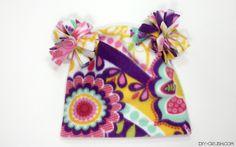 Free Pom Pom Fleece Hat Sewing Pattern - DIY Crush