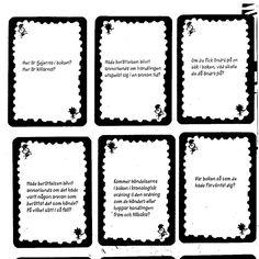 Frågekort läsning
