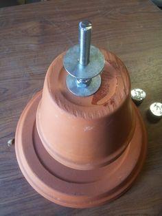 mise en plce de lécrou et de la rondelle pour le deux pot le plus gros