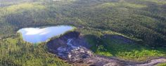 That Lake That Was Going to Fall Off a Cliff in Canada Actually Did