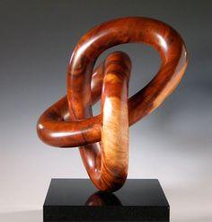 Des demandes en mariage à la vue de ces anneaux enlacés? auteur Frank McClure, Milonia #wood turning