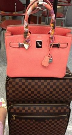 Hermes Birkin and Louis Vuitton suitcase Hermes Handbags, Hermes Bags, Coach Handbags, Louis Vuitton Handbags, Coach Purses, Fashion Handbags, Purses And Handbags, Fashion Bags, Coach Bags