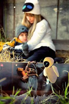 A Wall-E themed birthday: Wall-e & Eva Costume  ©Amber S. Wallace Photography, North Carolina