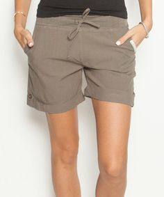 Brown Mid-Thigh Shorts