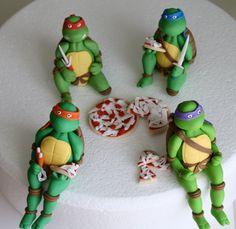 Fondant Teenage Mutant Ninja Turtles Cake Topper Set by KimSeeEun, $153.00