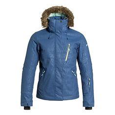 Roxy Jet Ski Premium w/Faux Fur Womens Insulated Snowboard Jacket, Ensign Blue