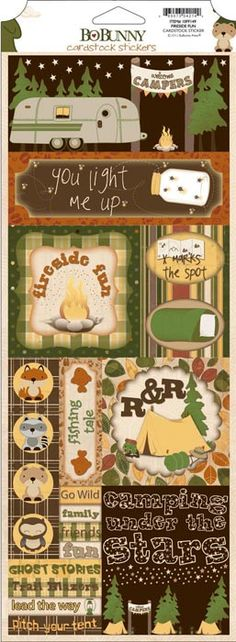 Bo Bunny Press - Camp-A-Lot Collection - Cardstock Stickers - Fireside Fun at Scrapbook.com