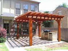 stamped concrete patio with trellis