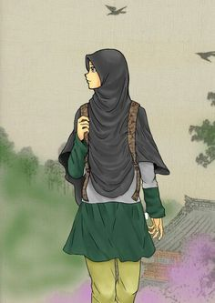 Sara always wanted to be a journalist but no one ever excepted her because she is a muslim and wears a head scarf. Beautiful Muslim Women, Beautiful Hijab, People Illustration, Illustration Girl, Illustrations, Hijab Anime, Manga, Hijab Drawing, Hijab Collection