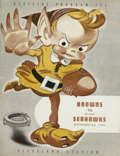 Old Cleveland Browns Poster...love it! GO BROWNS!