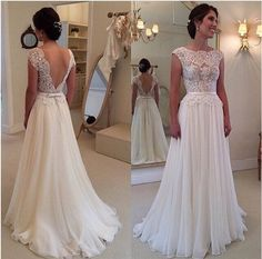 Long White dress with lace patchwork,and the backless show your beautiful bake to others,which make you sexier,you can choose one to your party or weddings of y