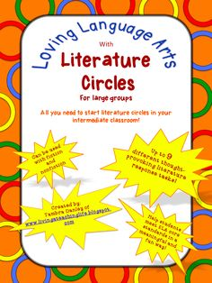 Literature Circles for Larger Groups!  Everything, except the books, you need to organize, manage, and run literature circles in your 3rd - 5th grade classroom! $5