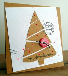 DIY Christmas Cards Quick And Easy To Make. Christmas time is one of the best holidays Christmas Card Crafts, Xmas Cards, Christmas Art, Diy Cards, Handmade Christmas, Christmas Decorations, Christmas Postcards, Christmas Holidays, Christmas Ornaments