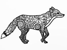 easy zentangle animals - Google Search                                                                                                                                                                                 More