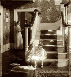 "Lollipops: 1910, ""Lollipops."" Mina Turner and her cousin Elizabeth in Waban, Massachusetts. 1910. by Gertrude Kasebier"