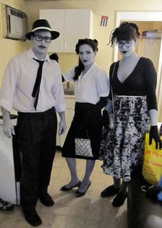 Awesome Halloween Costume: Black and White People