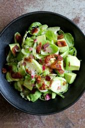 http://www.skinnytaste.com/shredded-raw-brussels-sprout-salad-with-bacon-and-avocado/