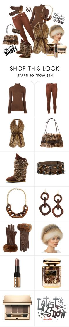 """Winter boots with fur~!"" by susan-993 ❤ liked on Polyvore featuring Laneus, 7 For All Mankind, Stella Jean, Michael Kors, Australia Luxe Collective, Marni, Kenneth Jay Lane, NEST Jewelry, Barneys New York and Eric Javits"