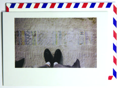 Looking down.  Polaroid shot in Chicago, USA. Each notecard is 3.5 x 4.9, printed on crisp, white 14 pt. stock and tucked into a nostalgic airmail envelope.